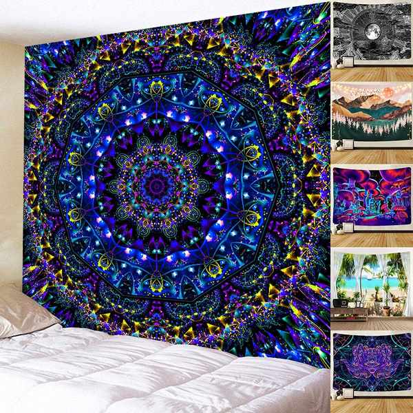 Decor, mandalatapestry, Home & Living, psychedelictapestry