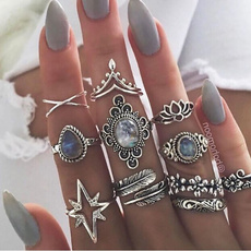 bohoring, Star, starringset, retro ring