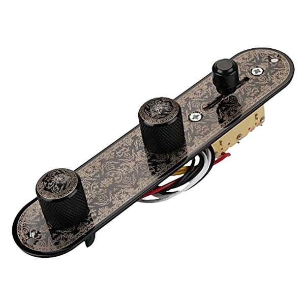 Guitars, telecontrolplate, black, fortelecasterguitar