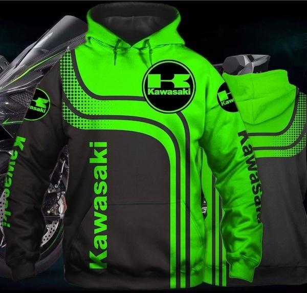 kawasakimotorcycle, Fashion, 3D hoodies, strangecostume