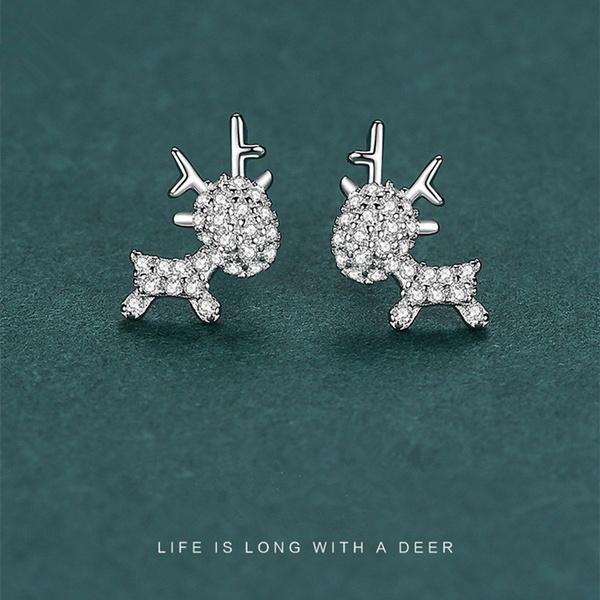 Sterling, elk, Dangle Earring, Jewelry