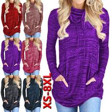 highnecktop, Womens Blouse, Tie Dye, Plus size top