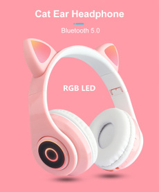 Headset, Rechargeable, led, usb