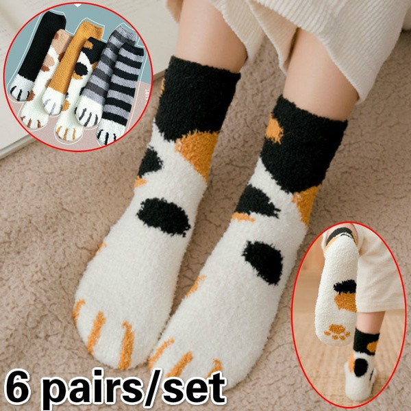 Cotton Socks, Winter, Socks, catclaw