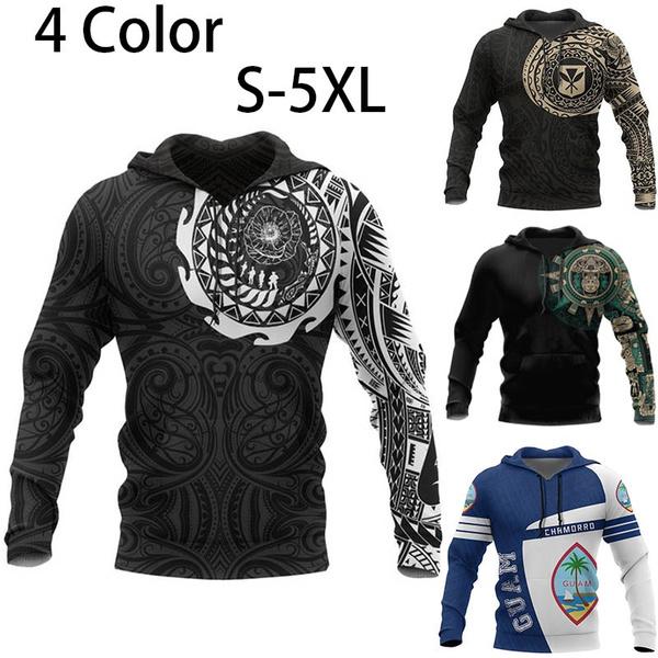tattoo, maori, samoa, pullover hoodie
