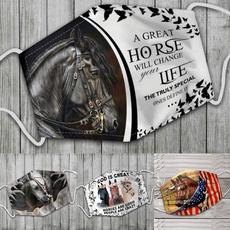 cottonfacemask, horse, Fashion, unisex