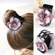 Flowers, beadedhairpin, Beaded, hairclawsforwomen