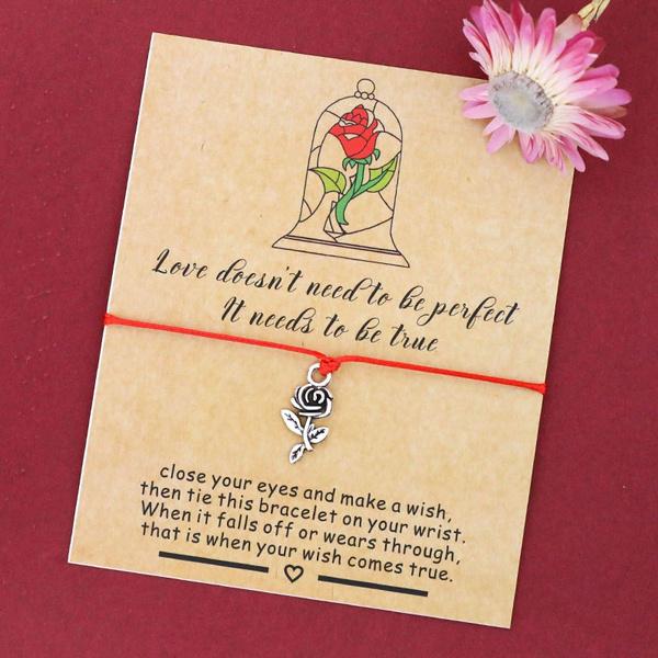Charm Bracelet, Flowers, Love, Jewelry