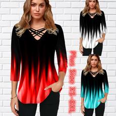Plus Size, Colorful, Women Blouse, Dress