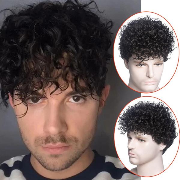 Black wig, menswig, Shorts, pixiecutwig
