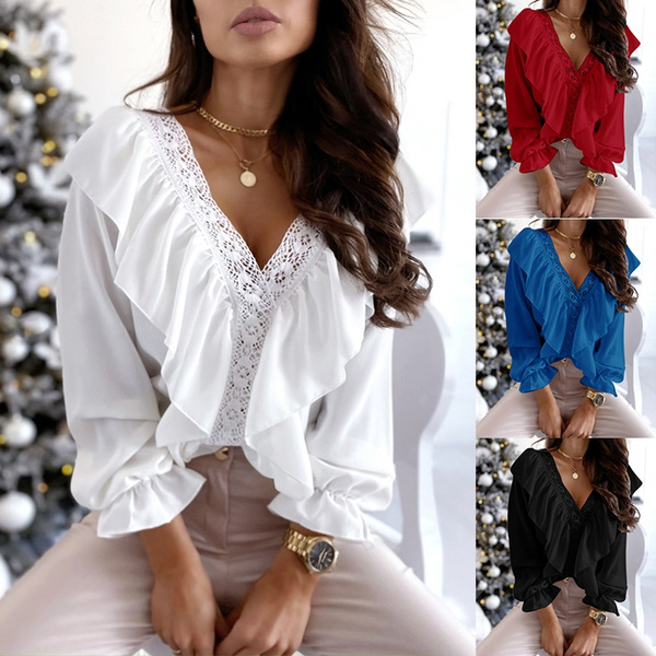 blouse, Women, Plus Size, Lace