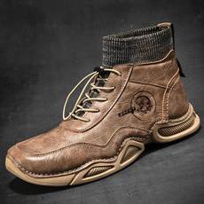 Cotton Socks, leather shoes, casual leather shoes, leather