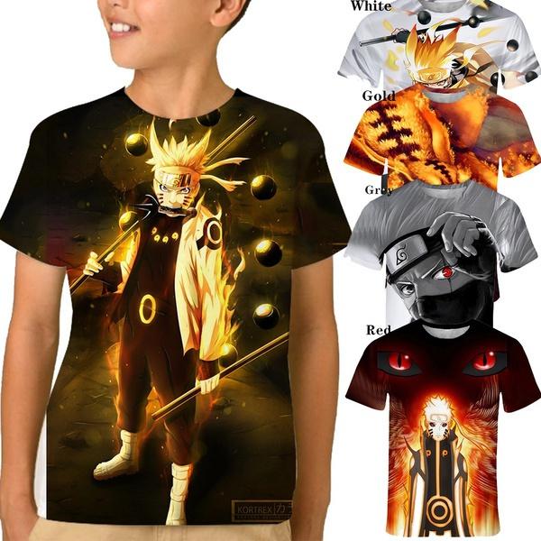 kids, animefigure, men's cotton T-shirt, printed