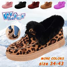 non-slip, Plus Size, Flats, leopard print