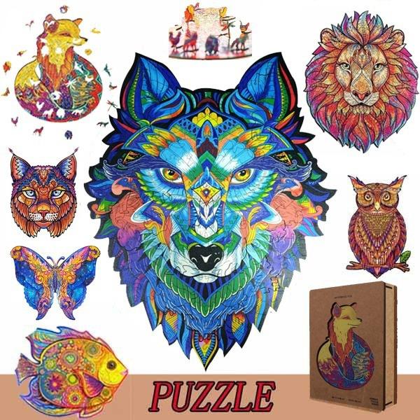 lionpuzzle, planejigsawpuzzle, Toy, Wooden