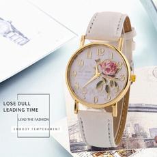dial, quartz, classic watch, leather
