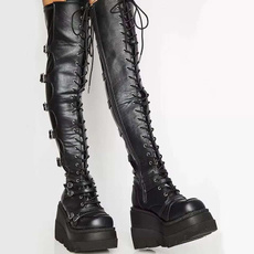 Fashion, Cosplay, long boots, leather