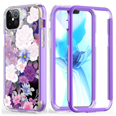case, TPU Case, Flowers, purplecolor