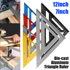 measuringdevice, triangleruler, Aluminum, ruler