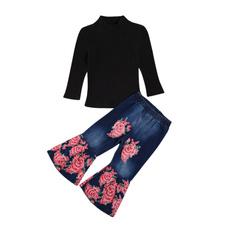 Beautiful, cottonandspandexfabric, Floral print, high waist