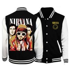 nirvanabaseball, Jacket, Fashion, autumnwintercoatjacket