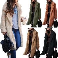 lapel, Fashion, Winter, Long Coat