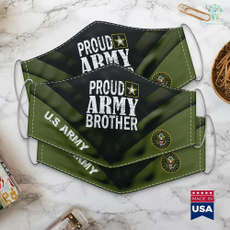 Army, proud, Masks, brother