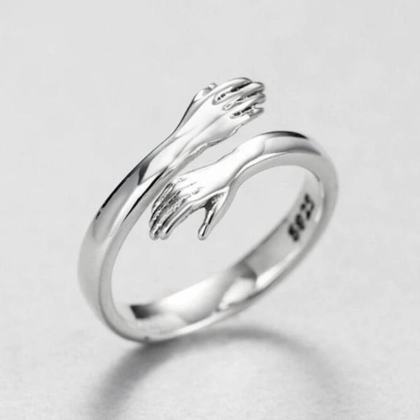 Sterling, adjustablering, hugringadjustable, womens ring