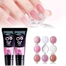 pink, nail decoration, gelpolish, nail tips
