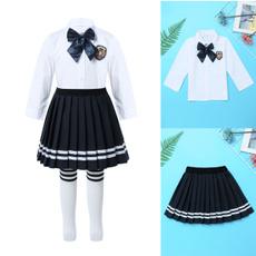 Mini, schoolgirloutfit, Long Sleeve, Pleated