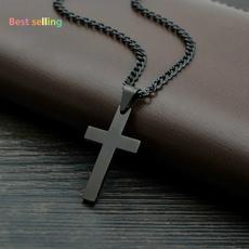 Steel, Chain, Cross Pendant, Vintage