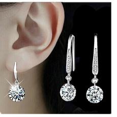 Sterling, Cubic Zirconia, Fashion, Dangle Earring