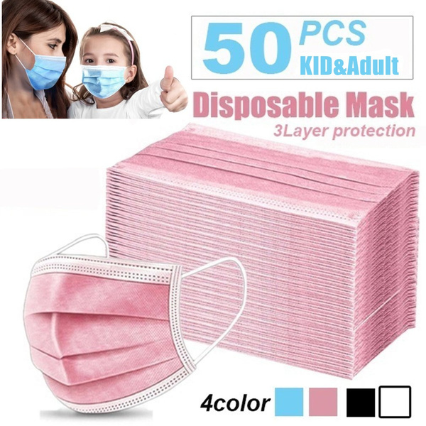 earloopflumask, dustmask, Elastic, 3layerfilter