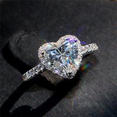White Gold, Heart, Fashion, wedding ring