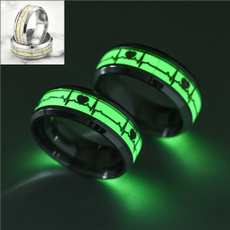 Steel, wedding ring, Gifts, luminousring