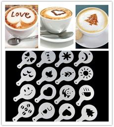Coffee, stencil, art, barista