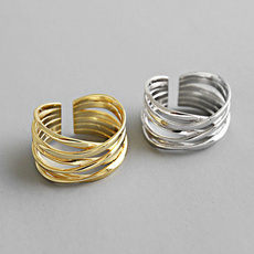 Sterling, Lines, Adjustable, Jewelry