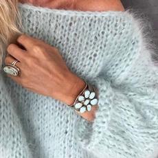 blouse, Plus Size, Winter, Sleeve