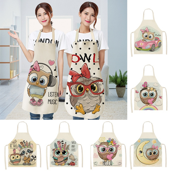 apron, cartoonapron, womenapron, Owl