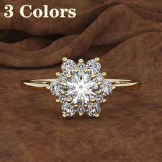 DIAMOND, Jewelry, Gifts, Silver Ring