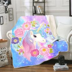Fleece, lovely, unicorn, Sofas