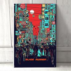 runnerbladeiimetalprint, Wall Art, Home Decor, cafedecor