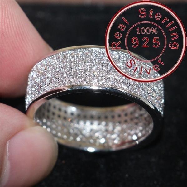 Sterling, czring, 925 silver rings, rhinestonering