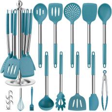 siliconekitchentoolset, Steel, Kitchen & Dining, Cooking