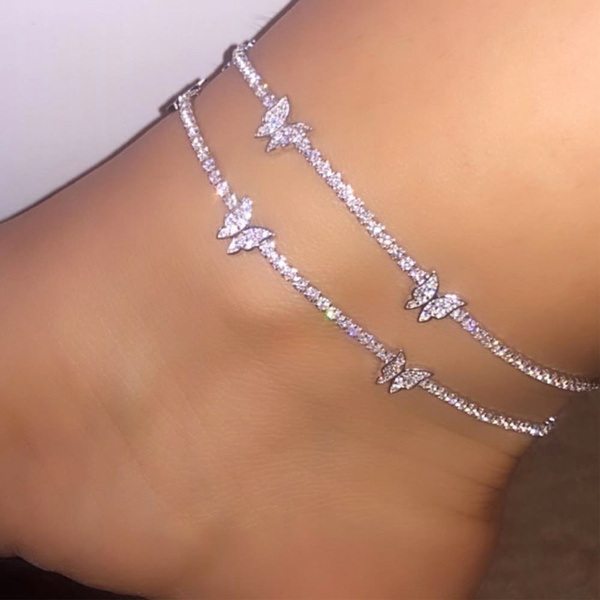 butterfly, cute, Sandals, Chain