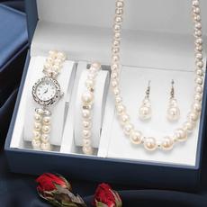 Charm Bracelet, Moda, pearlbraceletwatche, Boda