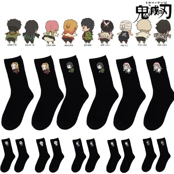 demonslayersock, Cotton Socks, Cosplay, cutesock