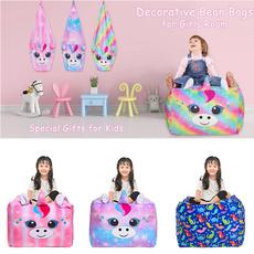 kidschairbag, beanbag, velvet, unicornbag