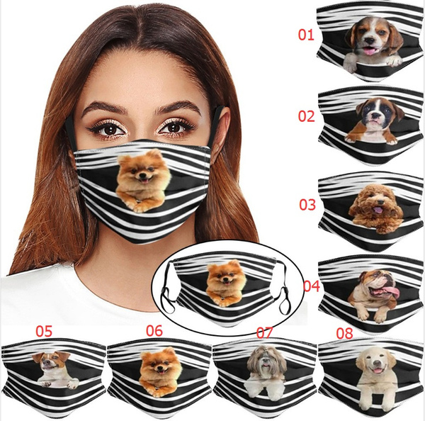 cute, blackmask, Pets, printedmask