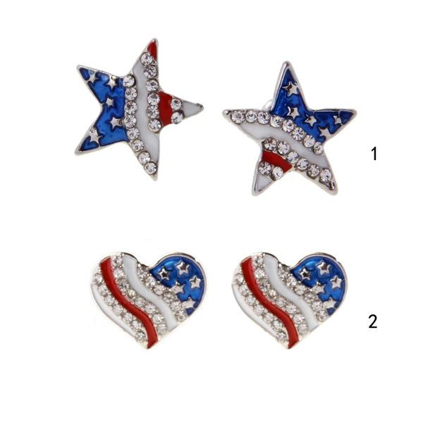 Heart, Star, Jewelry, ear studs